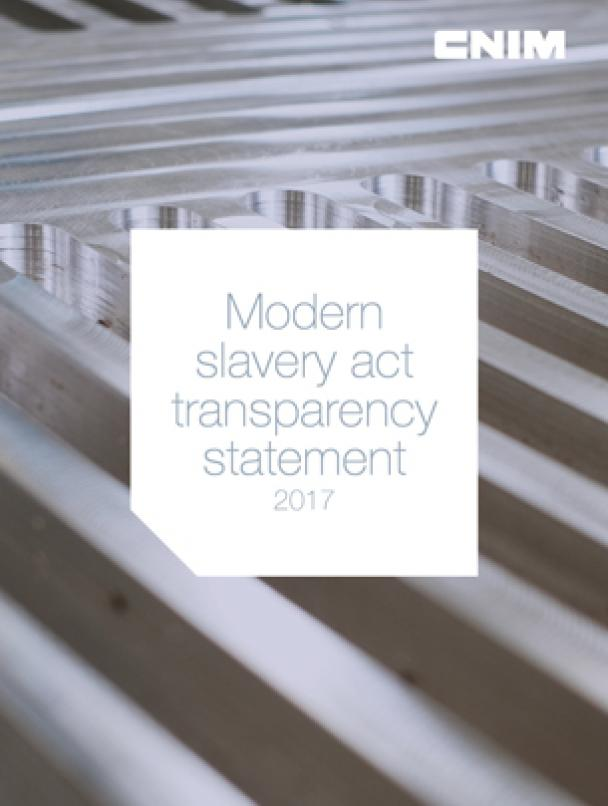 2017 Modern slavery act transparency statement